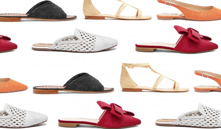 WOVEN SLIDES AND SANDALS