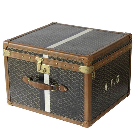 Vintage trunks and jewellery boxes