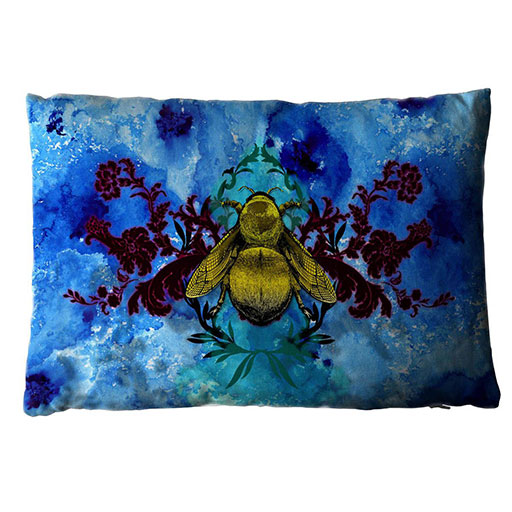 Blue Blotch Bee Cushion