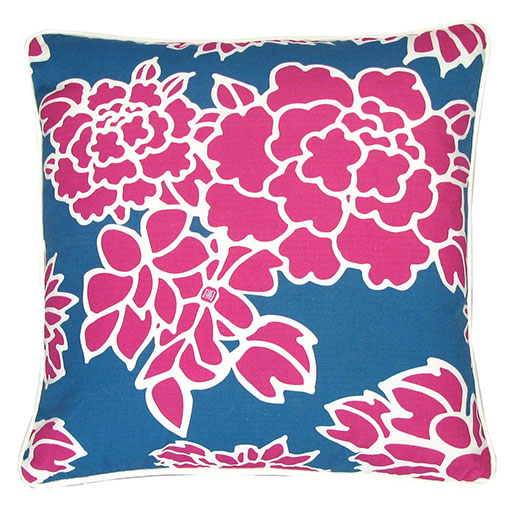 Fuchsia Cloisonne Cushion