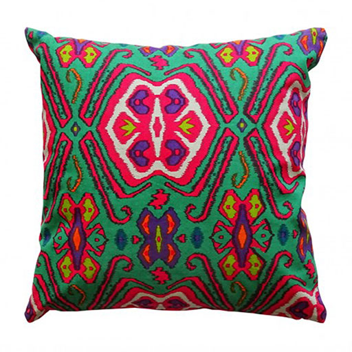 Multicoloured Ikat Cushion