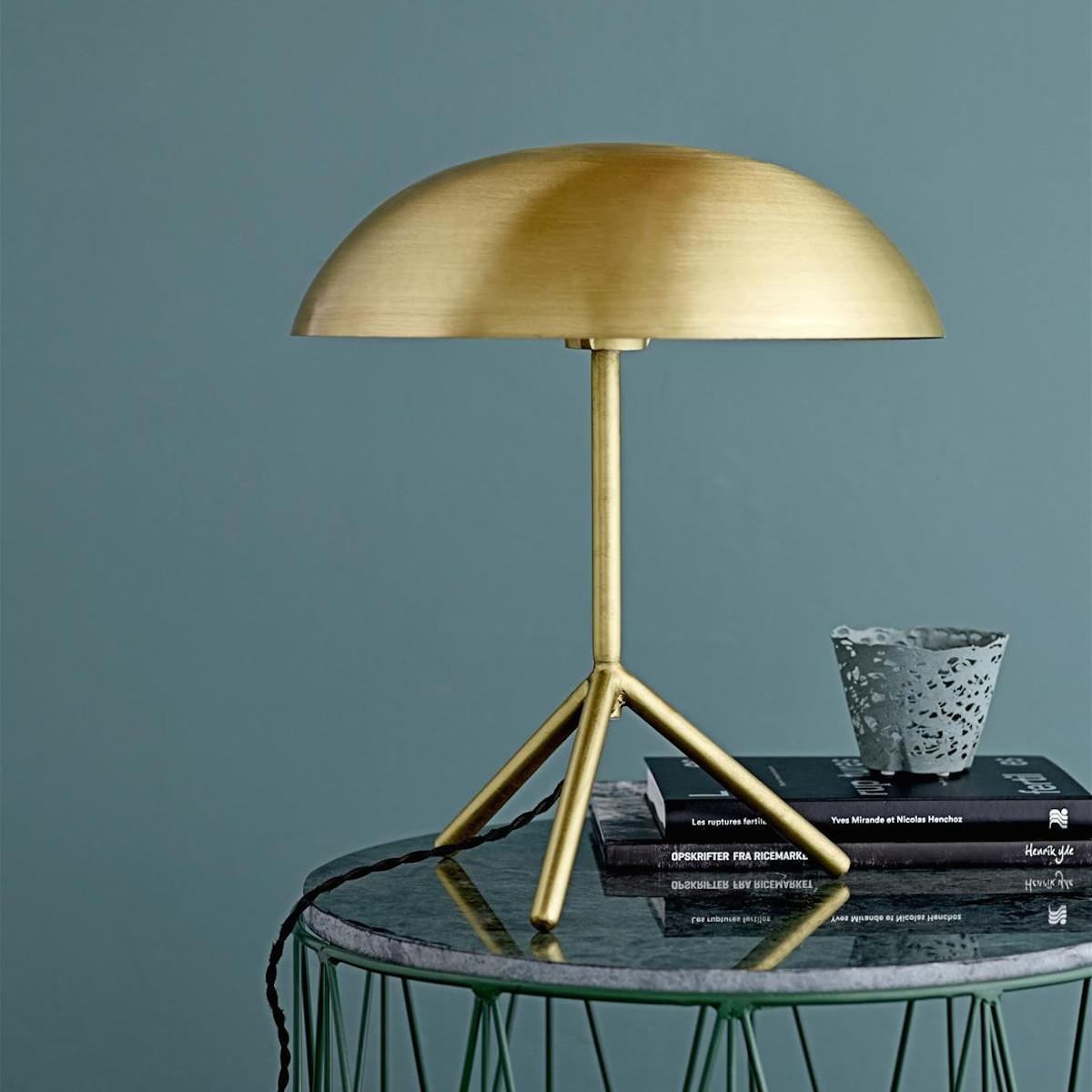 Gold Tripod Table Lamp