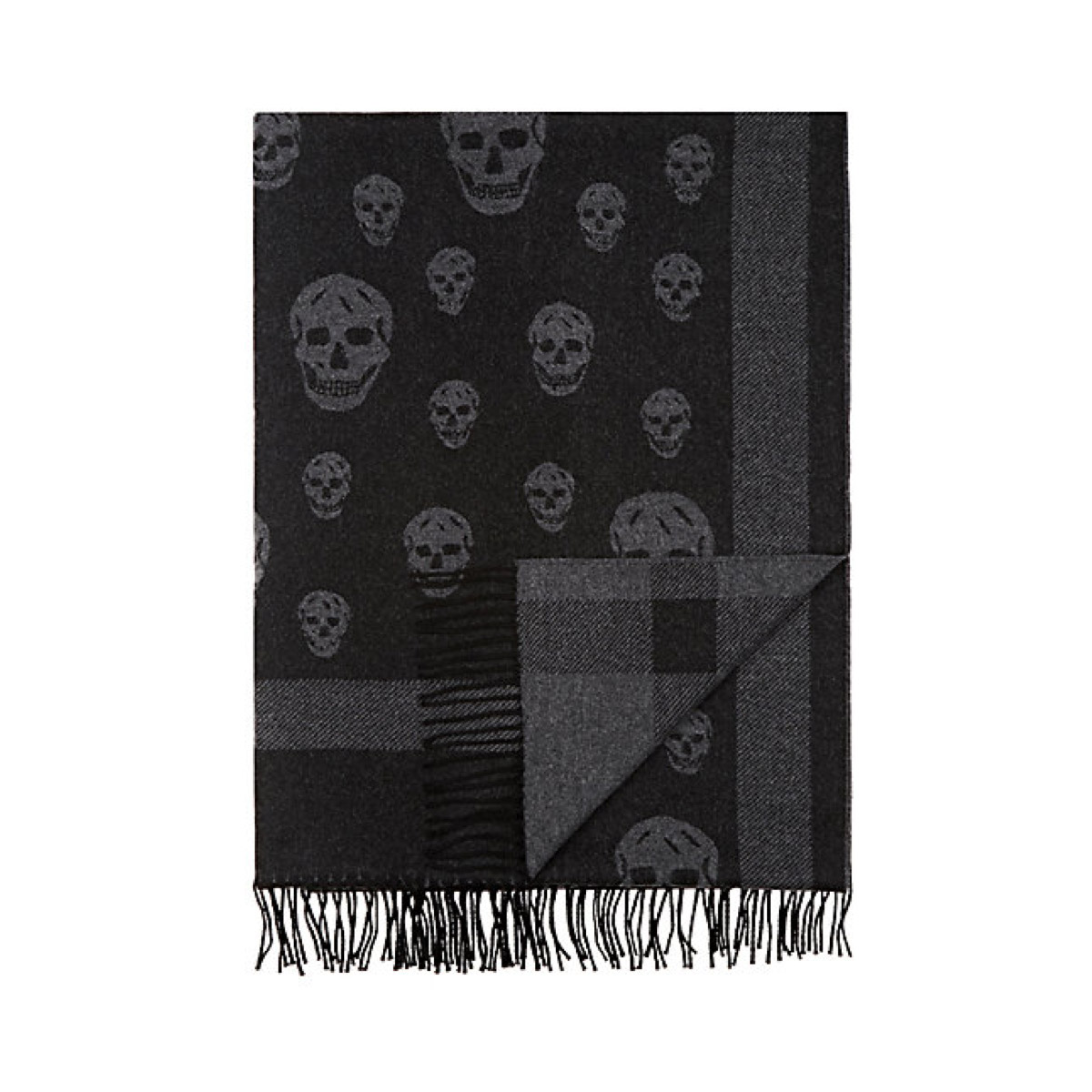 Skull Wool-Cashmere Throw