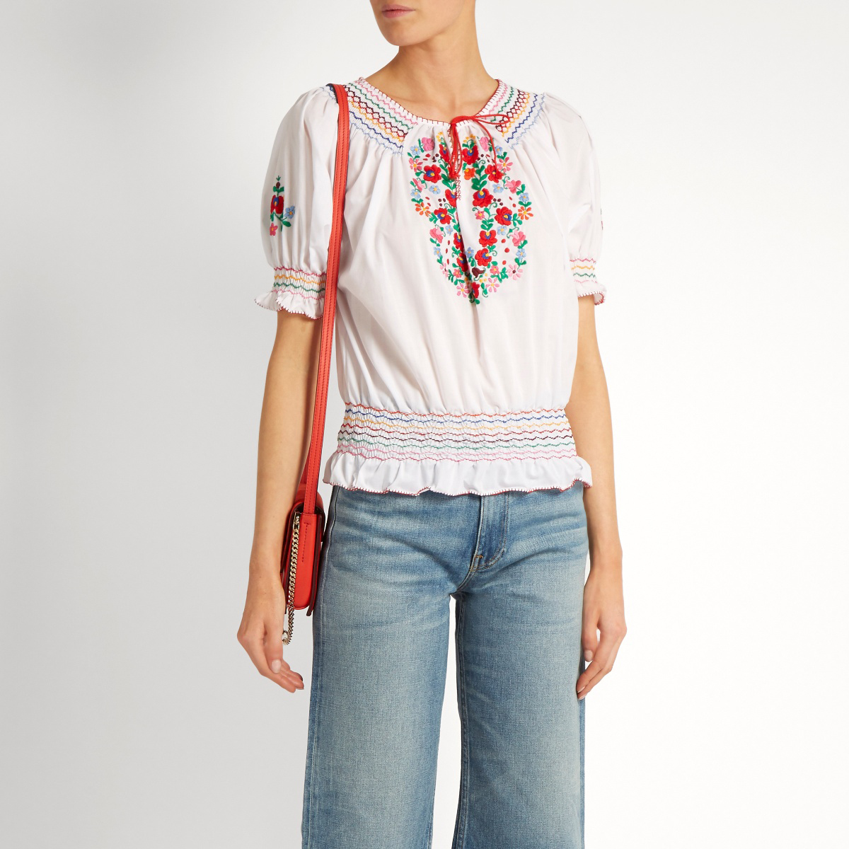 Dora Embroidered Top