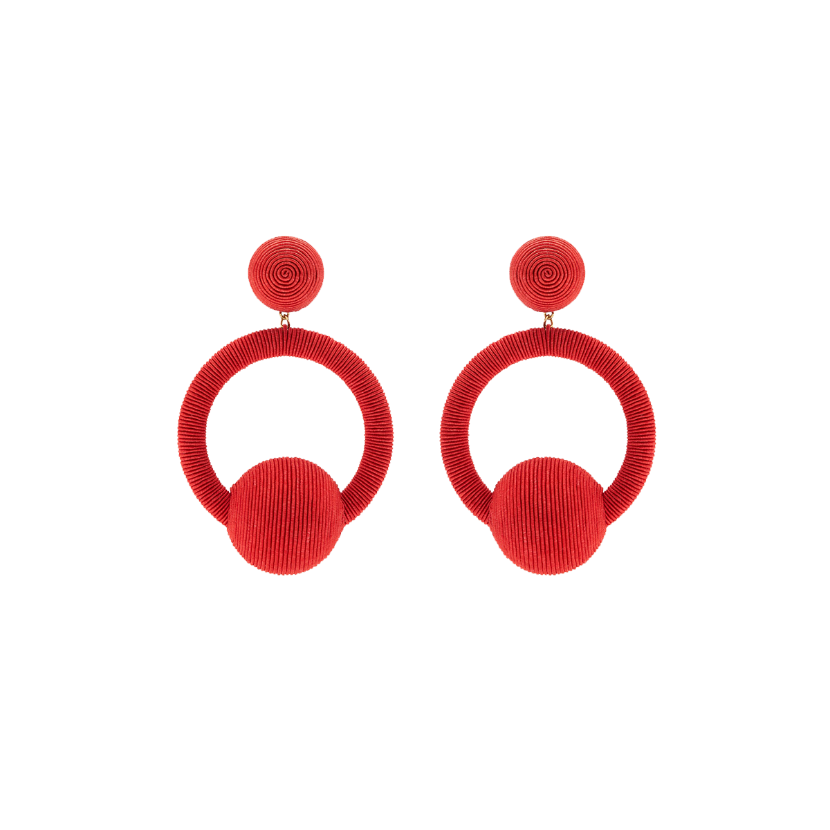 Linda hoop-drop earrings