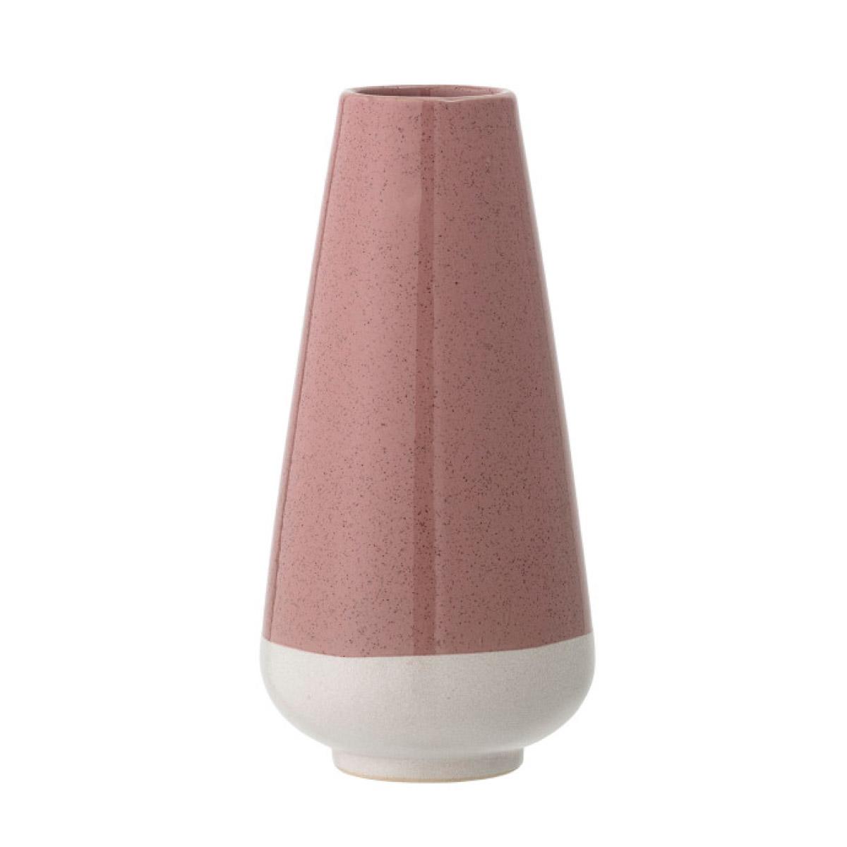 Rose stoneware vase
