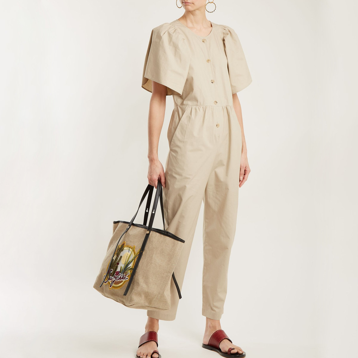 Puff-sleeve Jumpsuit