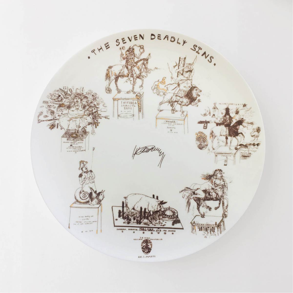 The Seven Deadly Sins plate