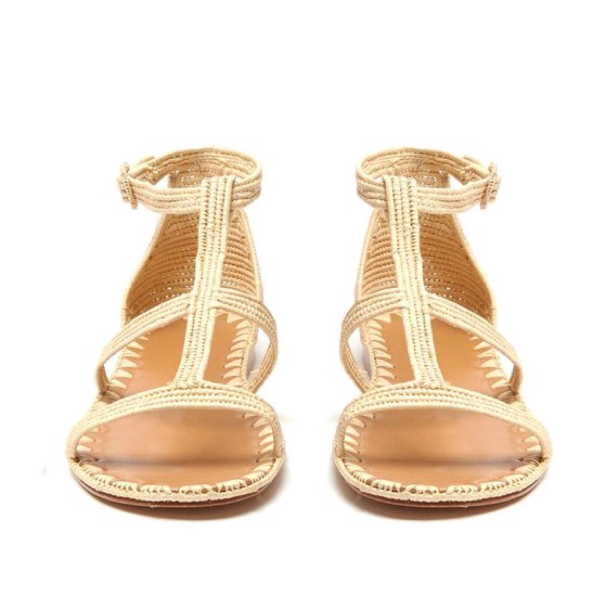 Faux Raffia Sandals