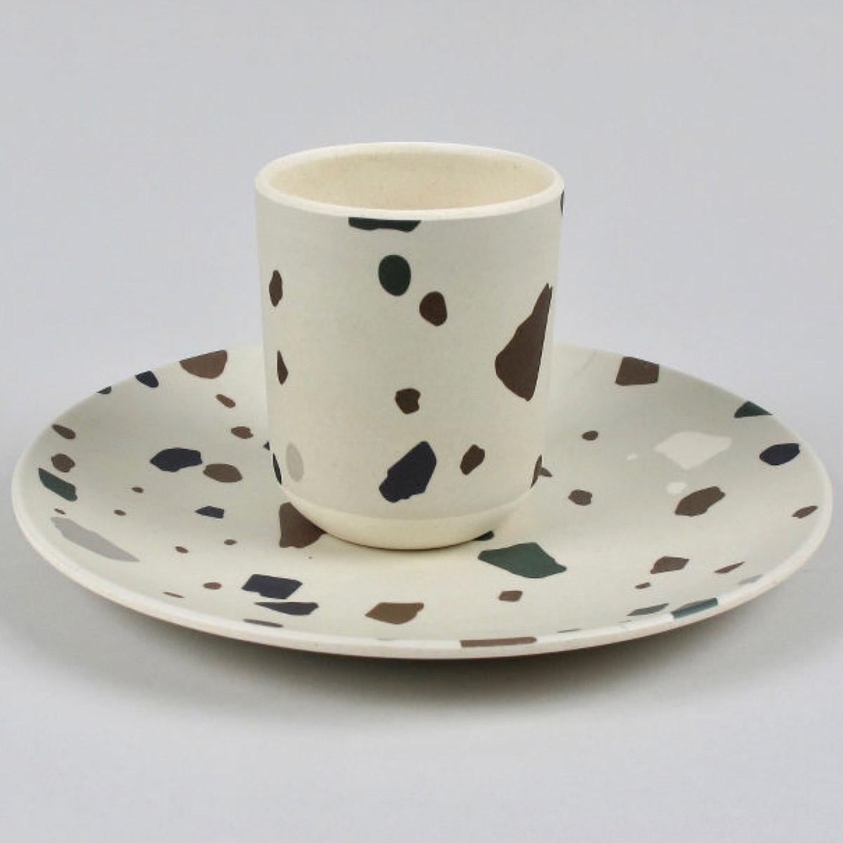 Bamboo Beaker and Plate