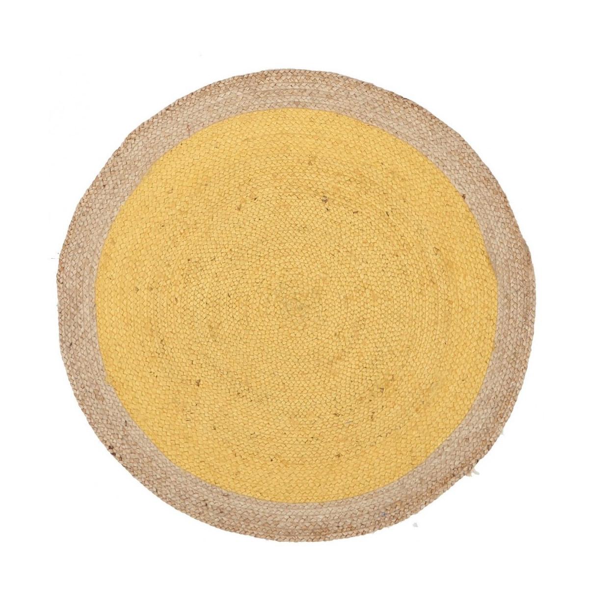 Yellow Jute Rug
