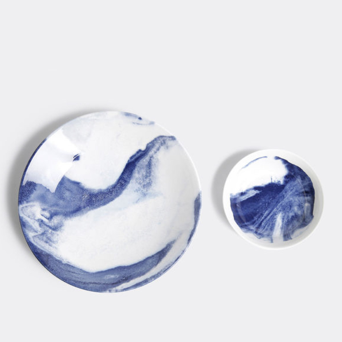 Indigo Storm Serving Bowl