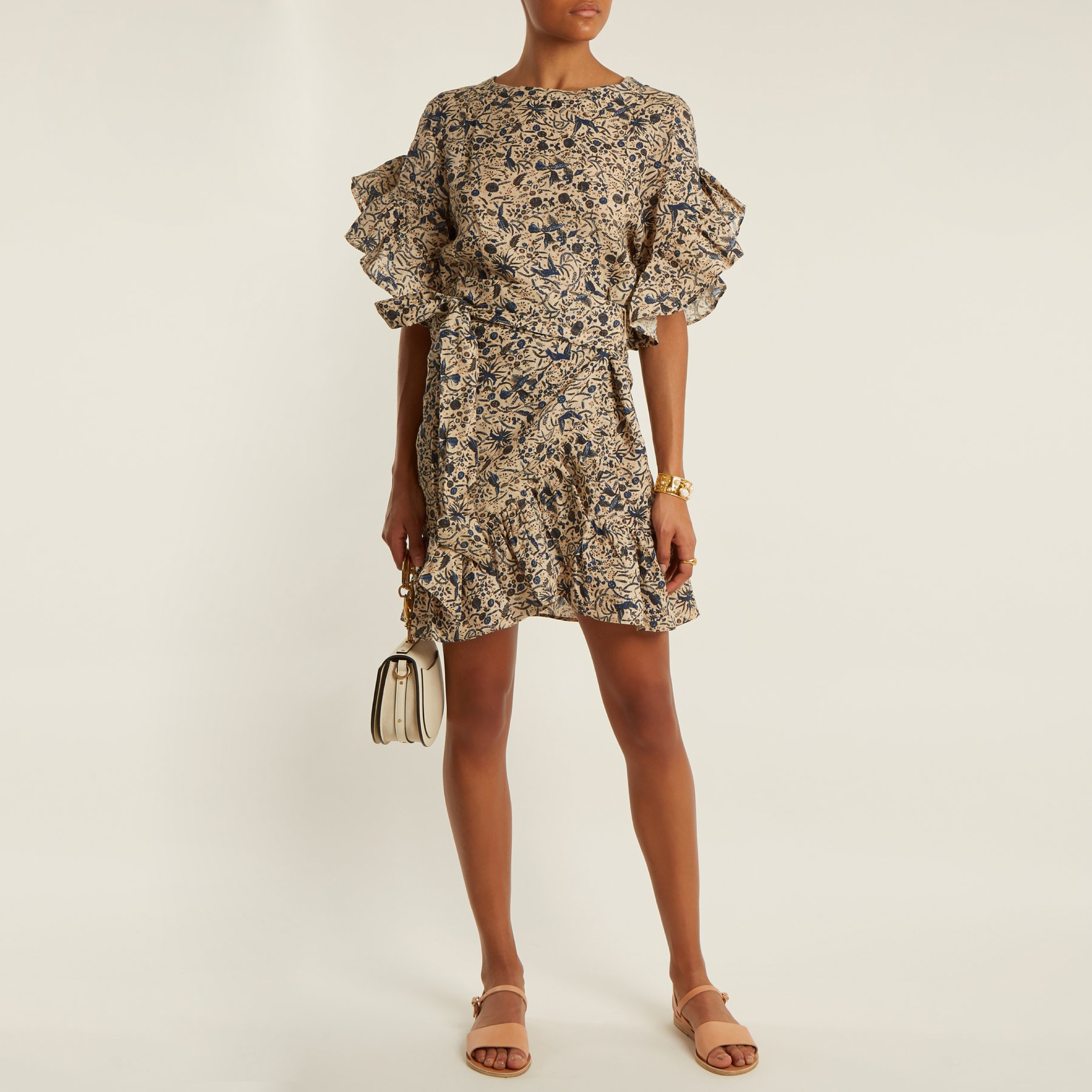 Printed Ruffle Dress