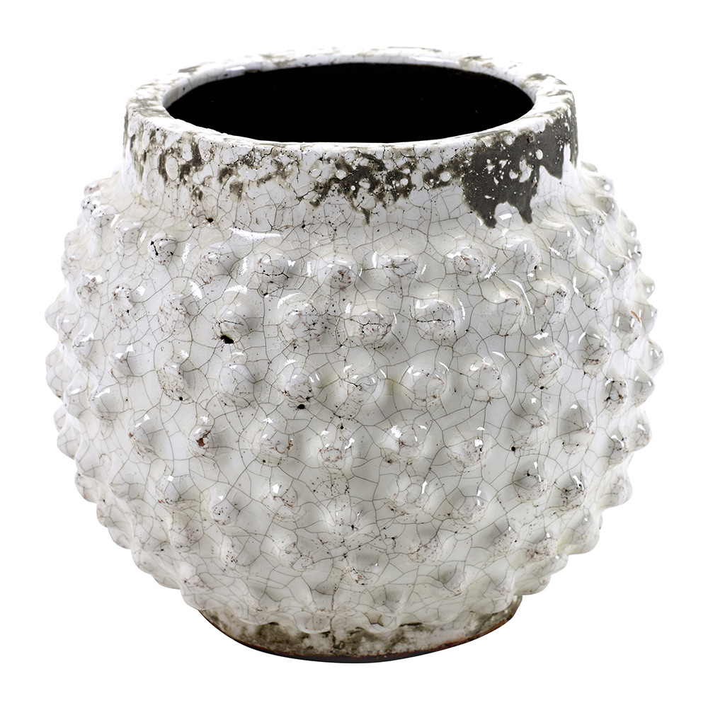 Round pot with bulb design