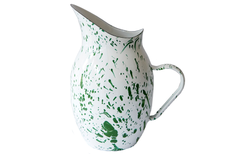 Green Splatter Pitcher